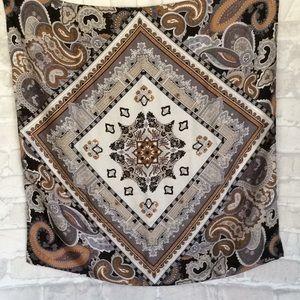 Vintage Echo Paisley Silk Scarf